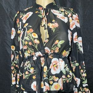 Floral meshed long sleeve